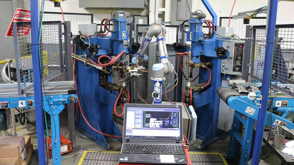 UR5 cobot handles a 52 second cycle in welding application