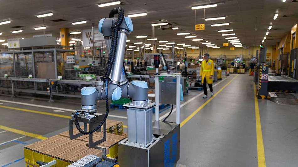 palletizing application with cobots
