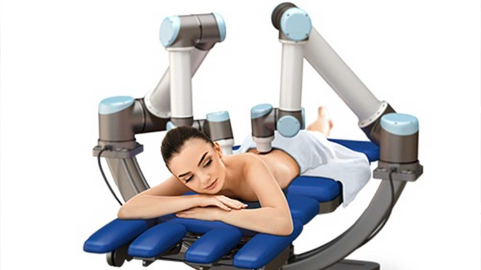 Massage Robotics, a Southern California startup integrates UR10 arm